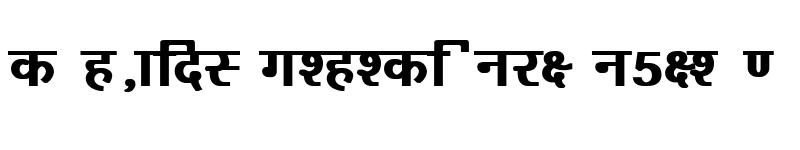 Preview of Kruti Dev 160 Bold