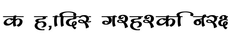 Preview of Kruti Dev 170 Bold