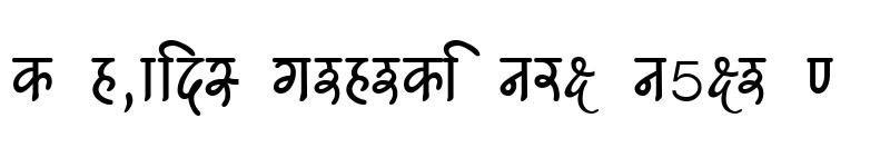 Preview of Kruti Dev 540 Regular