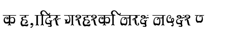 Preview of Kruti Dev 580 Regular